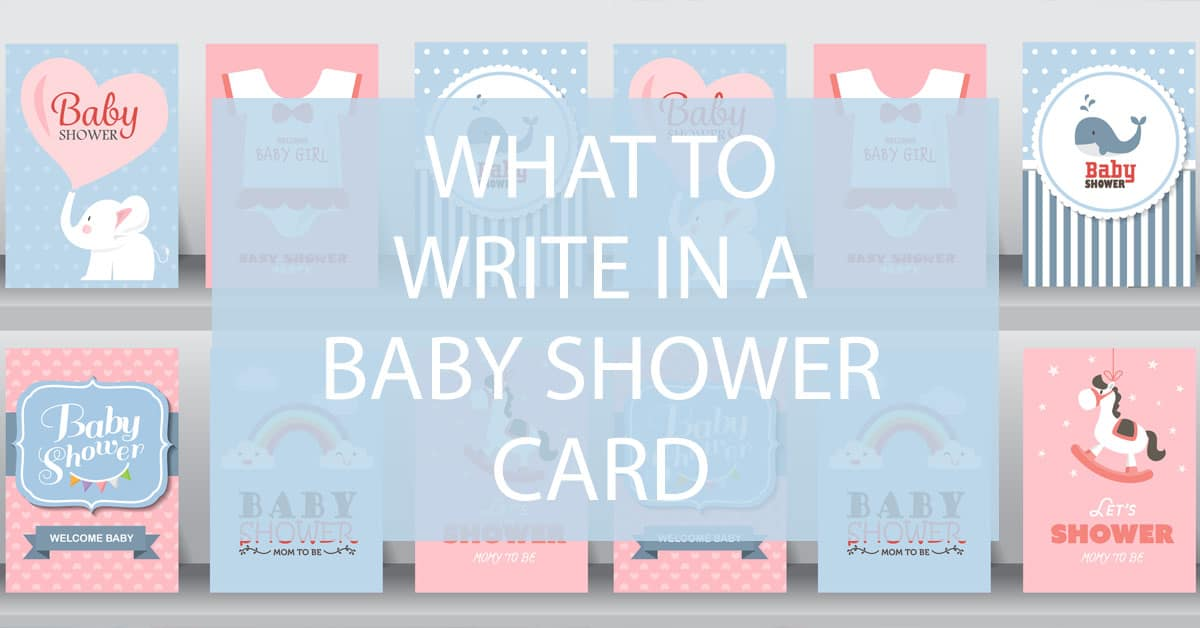 What To Write In A Baby Shower Card Darling Celebrations